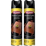 Weiman Wood & Furniture Cleaner & Polish - 12 Ounce [2 Pack] - Aerosol Protect Clean Polish Wax Your Wood Tables Chairs Cabinets