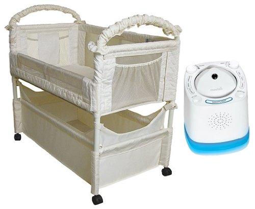 Arm's Reach Clear-Vue Co-Sleeper with Munchkin Nursery Sound Machine & Projector - Arms Reach Leg Extension