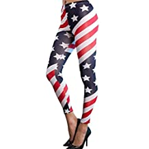 American Trends Women's Fashion Pattern Leggings Colorful Stretch Tight Pants