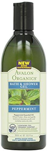 Avalon Organic Botanicals, Bath & Shower Gel, Mint, 12 oz (Avalon Peppermint Organics Bath)
