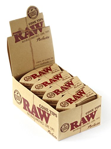Perfecto Box (Raw Rolling Paper Perfecto Cone Tips Full Box Of 24 Packs)