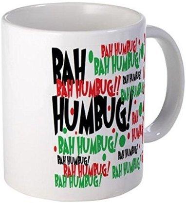 "Demon Decal Mug - Bah Humbug Chr Mugs - 15 Ounce Ceramic White Coffee/Tea Cup """