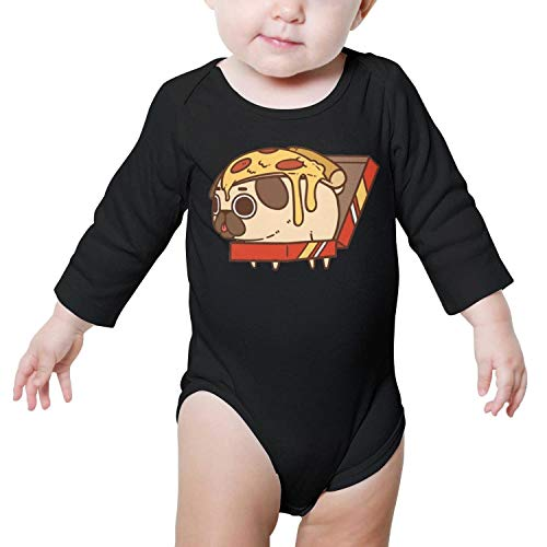 LUnBa Pizza ~ Puglie Baby Onesie Black Clothes Bodysuits Long Sleeve Natural Organic Cotton Unisex