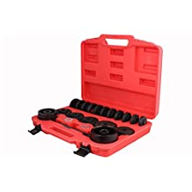 TMS FWDBearingToolKit-DN-(23PC) Front Wheel Drive Bearing Removal Adapter Puller Pulley Tool Kit with Case, 23 Piece (FWD)