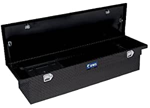 UWS TBS-69-T100-LP-BLK Black Single Lid Low Profile Aluminum Toolbox with Beveled Insulated Lid