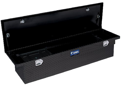UWS TBS-63-SL-BLK Black Single Lid Slim Line Aluminum Toolbox with Beveled Insulated Lid
