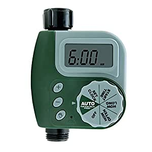 Lifebee Water Hose Timer, One Port Automatic Large Digital Display Single Dial Water Hose Timer for Outdoor Home yard Garden