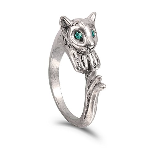 (XCOSER Couple Silvercat Ring Set Costume Accessories for Halloween Christmas)