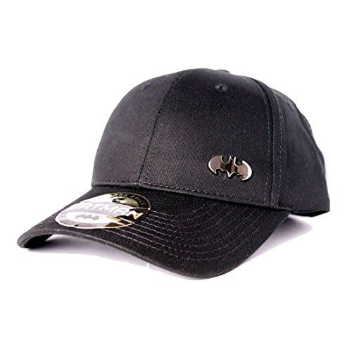 En venta gorra de béisbol Batman con el logotipo de metal negro ... 793a16ca84b2