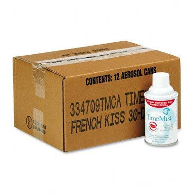 Metered Aerosol Fragrance Dispenser Refills, French Kiss, 12/Carton by Timemist