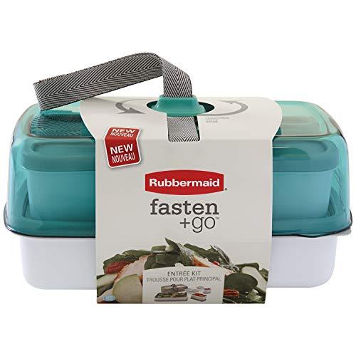 Rubbermaid 1946062 Fasten + Go Entrée Lunch Kit, 10 Piece