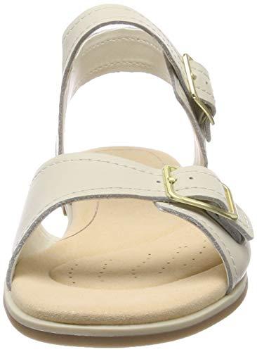 Blanco con Clarks Sandalia Bay White Mujer Leather para Pulsera Primrose wqqAr0tv