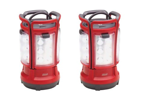 (2) COLEMAN Rechargeable Camping Light LED Quad Lanterns w/ Handle   2000001150 Coleman Led Quad Lantern