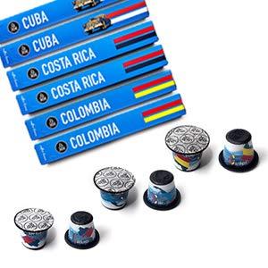 Nespresso Capsules - Espresso Pods for your Nespresso Machine LIMITED EDITION SAMPLER, Nespresso Original Coffee Pods with Cuban, Colombian & Costa Rican Blends (60 Capsules)