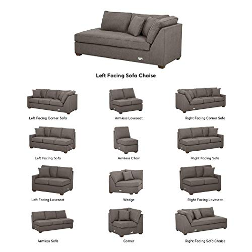Stone & Beam Bagley Sectional Component, Left-Facing Sofa Chaise, Fabric, 41