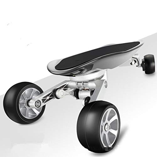 WUS Four-Wheel Electric Skateboard,Integrated Longboard,with Remote Control,Fiber Polymer Battery,Carbon Fiber Deck,38Km/H,Double Drive