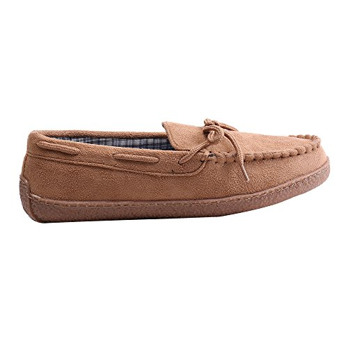 WILLIAM&KATE Herren Wildleder Driving Schuhe Slip-On Mokassin Schuhe Weiche Sohle Outdoor Walking Casual Hausschuhe Braun