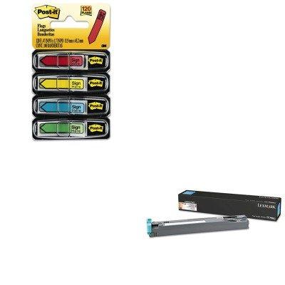 KITLEXC950X76GMMM684SH - Value Kit - Lexmark C950X76G Waste Toner Bottle (LEXC950X76G) and Post-it Arrow Message 1/2amp;quot; Flags (MMM684SH)