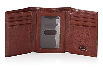 Stealth Mode Men's Soft Trifold Leather Wallet with RFID Blocking