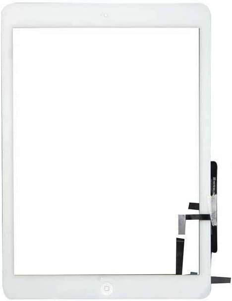 Touch Screen Digitizer + Home Button Replacement for iPad Air 1 / iPad 5 5th A1474 A1475 A1476 (White)