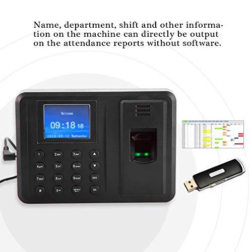 Máquina de Asistencia de Huellas Dactilares, Pantalla biométrico Reloj Registrador de Tiempo para el Registro de empleados, TFT 2.4 Pulgadas(EU): Amazon.es: ...