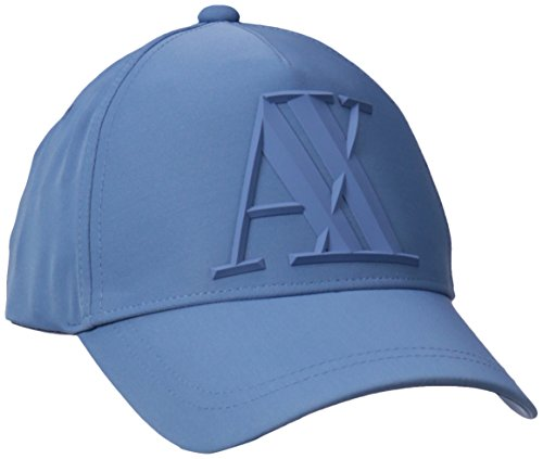 Armani Exchange Men's A|X Logo Hat, Blue Horizon, One Size