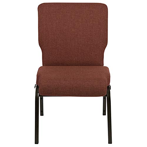 Advantage 20.5 in. Cinnamon Molded Foam Church Chair