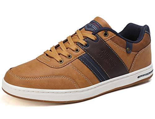 ARRIGO BELLO Freizeitschuhe Herren Sneaker PU Leder Walkingschuhe Atmungsaktive Athletic Formal Classic Sportschuhe Größe 41-46