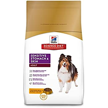 Hill'S Science Diet Adult Sensitive Stomach & Skin Dog Food, Chicken Meal & Barley Recipe Dry Dog Food, 30 Lb Bag