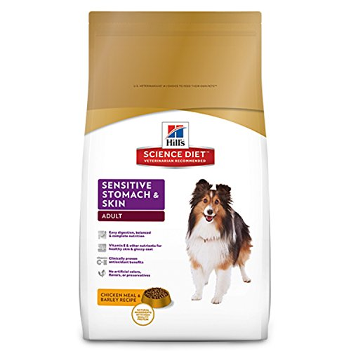 Hill'S Science Diet Adult Sensitive Stomach & Skin Dog Food, Chicken Meal & Barley Recipe Dry Dog Food, 30 Lb Bag from Hill's Science Diet