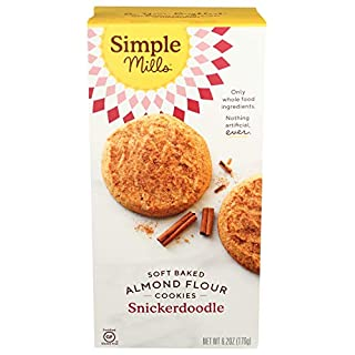 Simple Mills Almond Flour Snickerdoodle Cookies, Gluten Free and Delicious Soft Baked Cookies, Organic Coconut Oil, Good for Snacks, Made with whole foods, (Packaging May Vary)