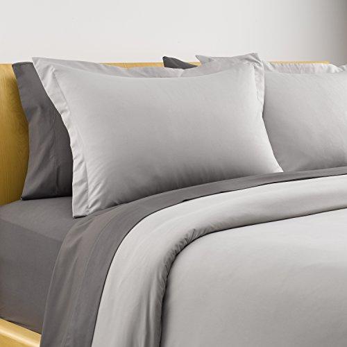 Karalai Light Grey Duvet Cover Set King Size, Soft Luxurious