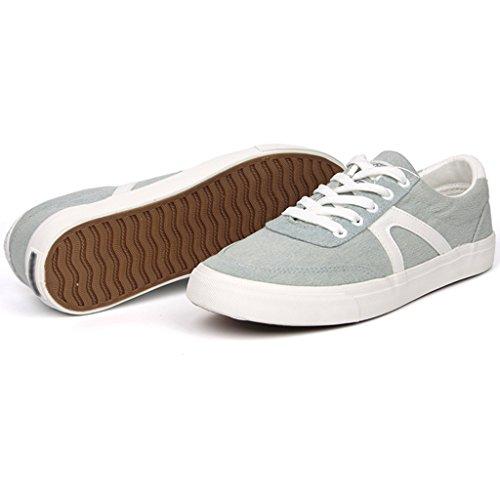 traspirante di aiutare di Light nuovo estivo uomo basse Scarpe da Blue le uomo Scarpe casual scarpe scarpe scarpe stile uomo Espadrillas stoffa basse coreano per stile tela scarpe da da 7qO8wSSxf1