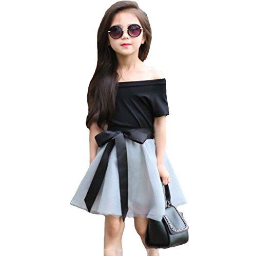 98edd019b0b31b New Stylish Girl Dress with Black off shoulder top and skirt (5 ...