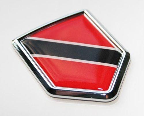 Trinidad and Tobago Flag Decal Car Chrome Emblem Sticker