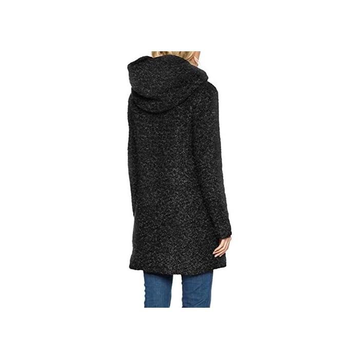 41N31uiZevL Boucle - Abrigo de lana Con capucha. 55% Poliéster, 45% Lana