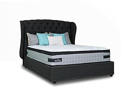 Mattress America Frost 13 Inch Pocket Coil Pillow Top Mattress Gel Infused Memory Foam … (King) - Soft Foam Top