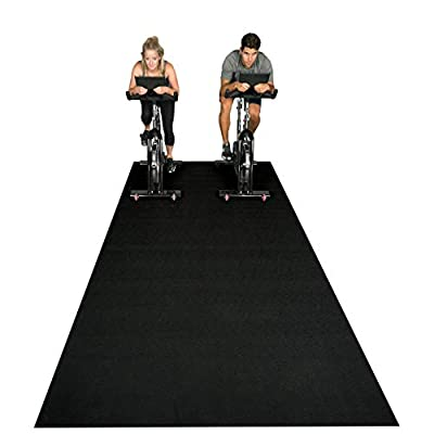 Square36 New Large Fitness Equipment Mat 12 Ft x 6 Ft. Made in Germany - Highest Grade Materials. Our Gym Flooring Mat Fits Multiple Fitness Machines - Ideal for Ellipticals, Rowers, Treadmills.