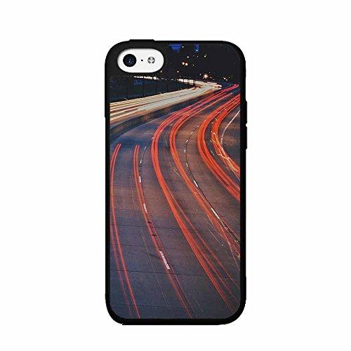 (BleuReign(TM) Bright Red Tailgates Plastic Phone Case Back Cover iPhone 5c)
