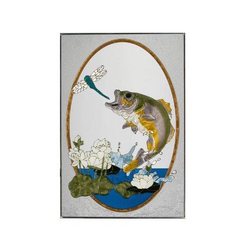 Fish Bass Painted Glass Panel U-101