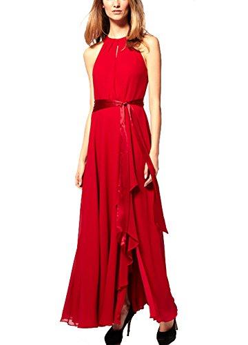 Abendkleider lang mit armel rot