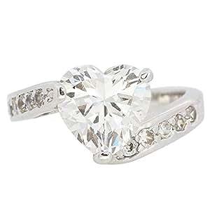 Giro Woman's Alloy Heart Stone Ring - G0080-18 mm
