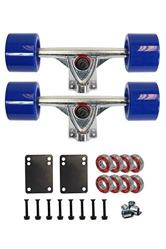 Complete Solid Axle (SCSK8 LONGBOARD Skateboard TRUCKS COMBO set w/ 70mm WHEELS + 9.75
