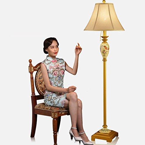 MOMO Stehleuchte Kreative Nordic Stehleuchte Einfache Moderne Stehleuchte Wohnzimmer Mediterrane Beleuchtung Schlafzimmer Retro Vertikale Lampe Amerikanische Stehlampe,Gelb (Schwarze Und Gelbe Gläser)