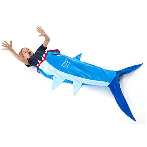 Echolife Shark Tail Blanket Super Soft Minky Shark Sleeping Bag for Kids Age 3-12 Years Old – Designed (Blue Shark)