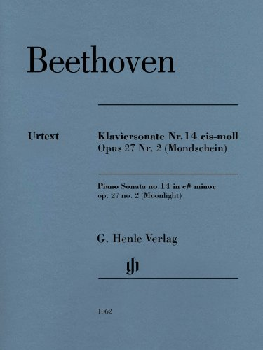 Beethoven: Piano Sonata No. 14 in C-sharp Minor, Op. 27, No. 2 - Moonlight Sonata Beethoven Music Sheet