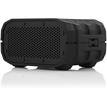 BRAVEN BRV-1s Portable Wireless Bluetooth Speaker [12 Hours][Waterproof] Built-In 1400 mAh Power Bank Charger - Black / Black