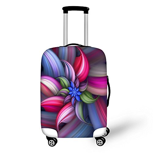 FOR U DESIGNS 26-30 Inch Large Classic Colorful Floral Print Elastic Dustproof Suitcase Protective Cover
