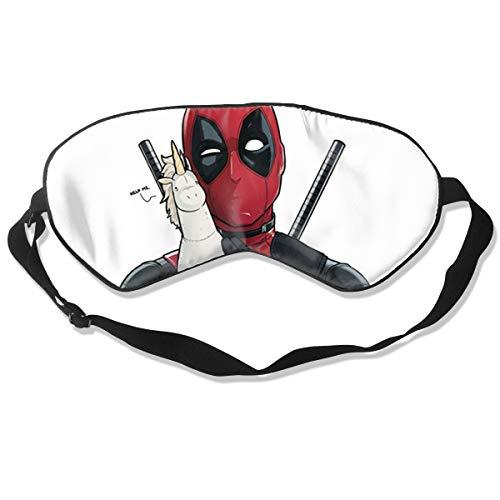 Deadpool Natural Silk Sleep Mask, Best Sleeping Mask Eye Mask Eye Cover for Travel, Nap, Meditation, Blindfold with Adjustable Strap for Men, Women