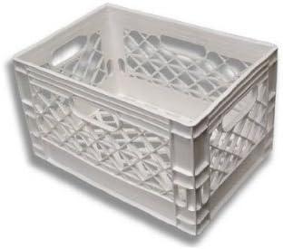 Farmplast, LLC. 24qt White New Milk Crate